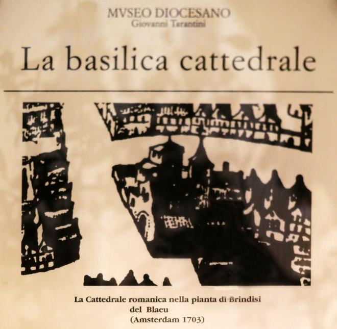 Disegno storico del Blaeu 1703 - Museo Diocesano Giovanni Tarantini