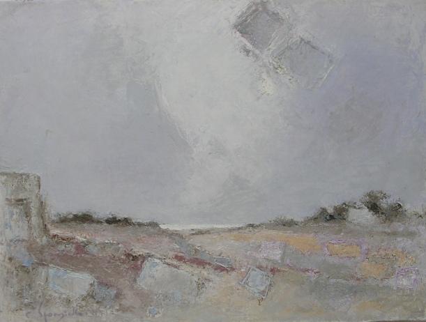 Tav. 11 Paesaggio Salentino 1990 olio 60 x 80