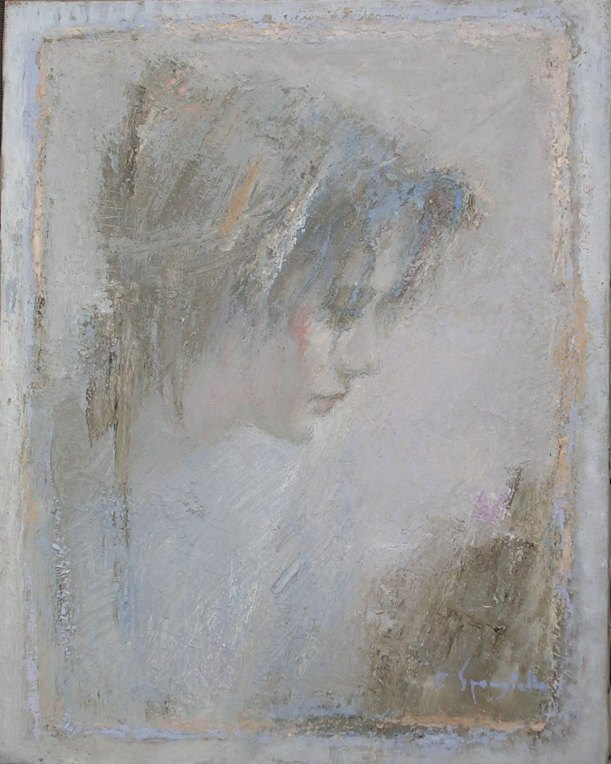 Tav. 13 Laura 1992 olio 40 x 50