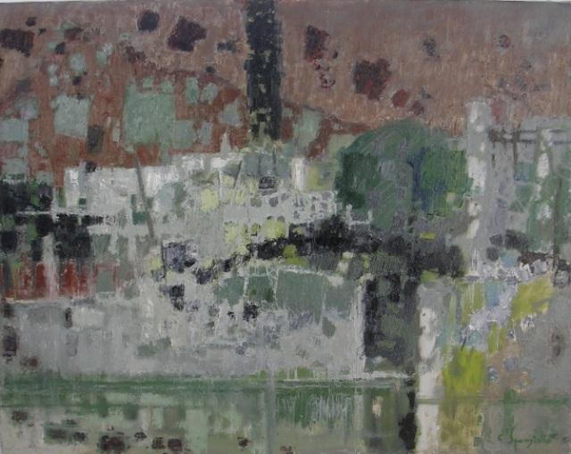 Tav. 3 Lago di Garda 1961 olio 70 x 90